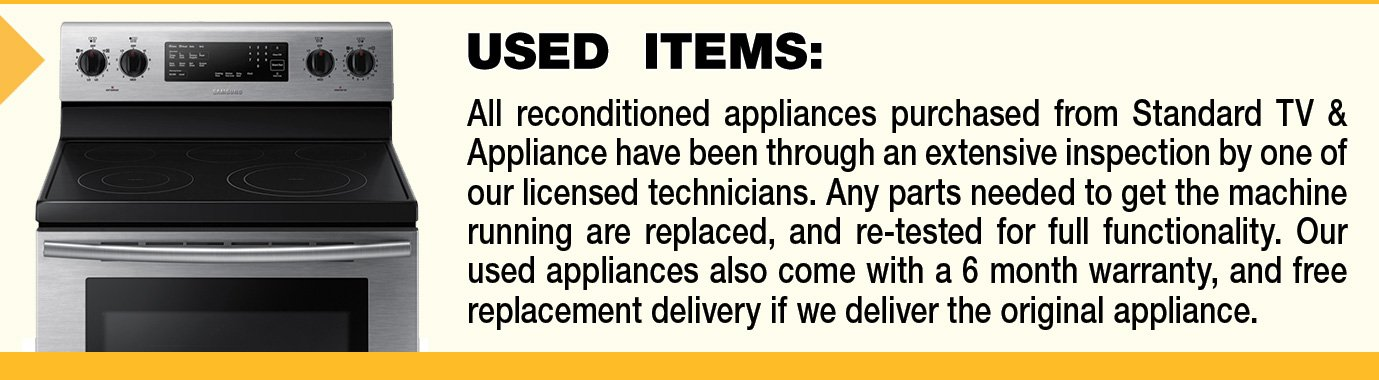 Used Appliances at Standard TV & Appliance